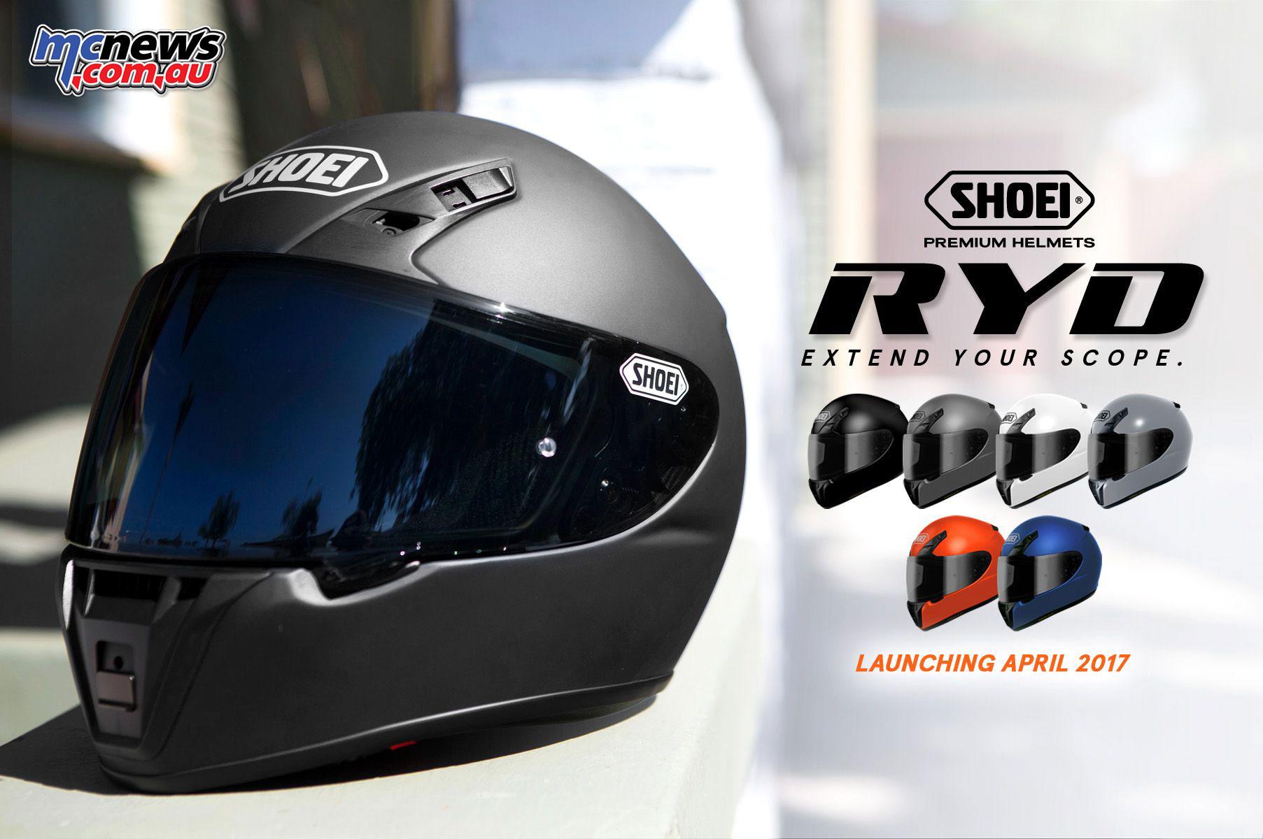 Shoei unveil all new RYD helmet | Arriving April | MCNews ...