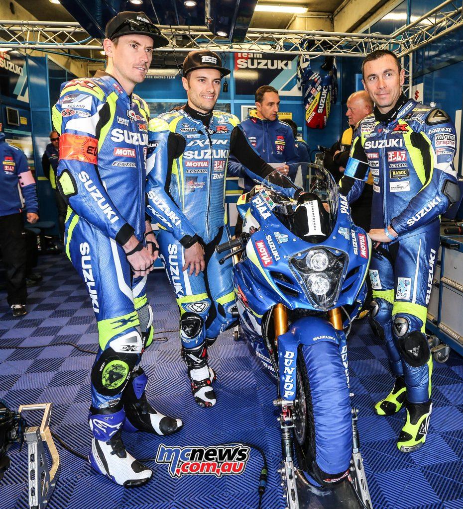 SERT riders Vincent Philippe, Etienne Masson and Alex Cudlin
