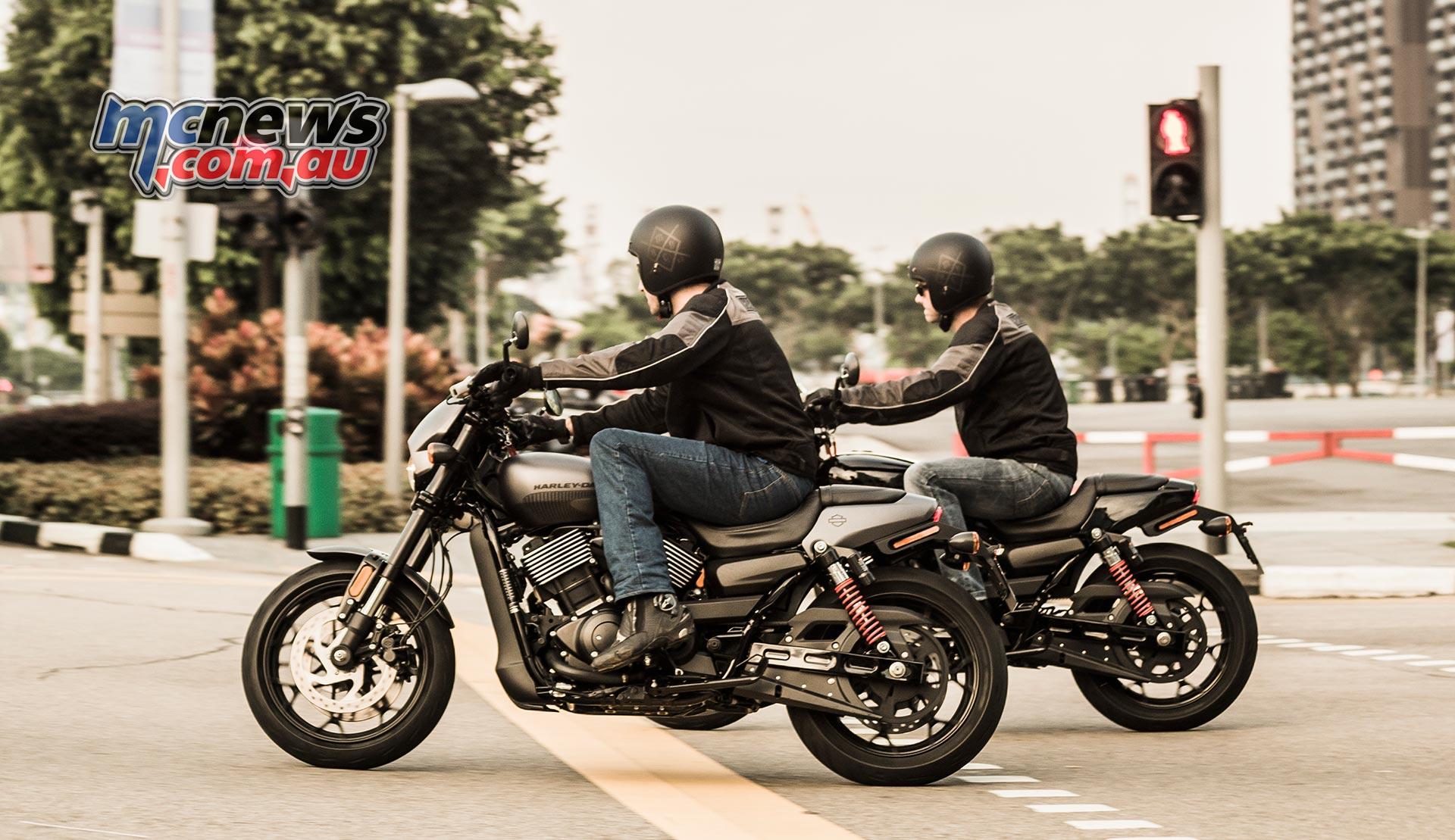 Harley Davidson Street Rod Launch on Sportster Road Test