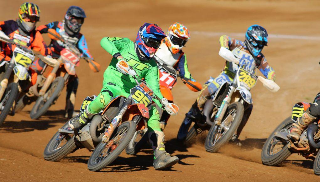 Jordan Ussher and Billy van Eerde lead the pack - Image by David Lamont