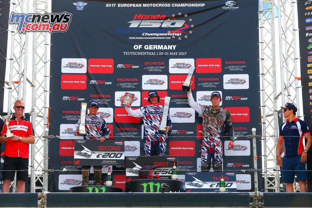 Honda 150 European Championship - German Round Podium