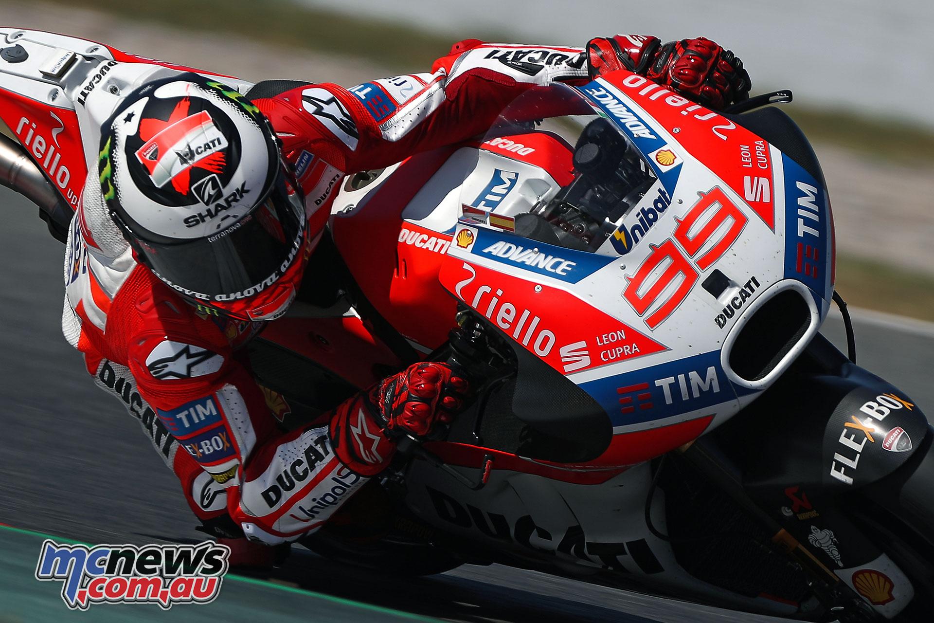 Lorenzo makes progress with Ducati | Stoner rides again | MCNews.com.au