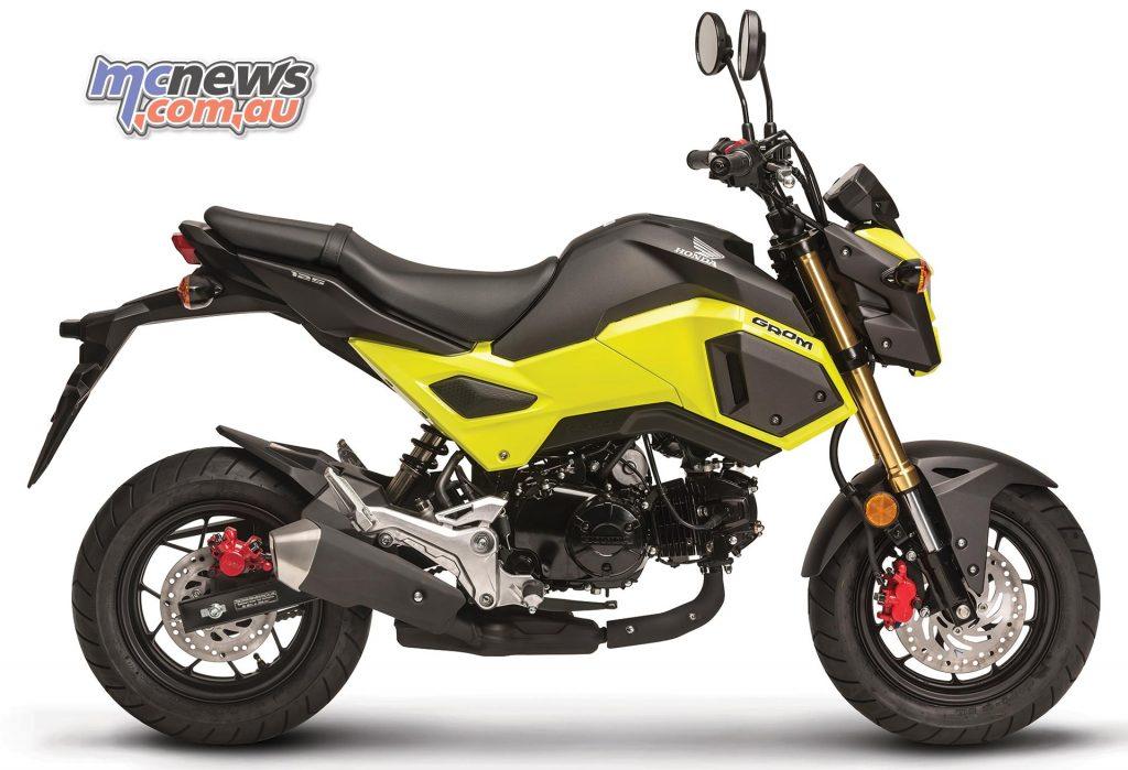 Honda Grom in Lemon Ice Yellow