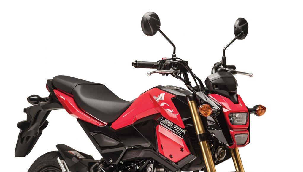 Honda Grom in Pearl Valentine Red
