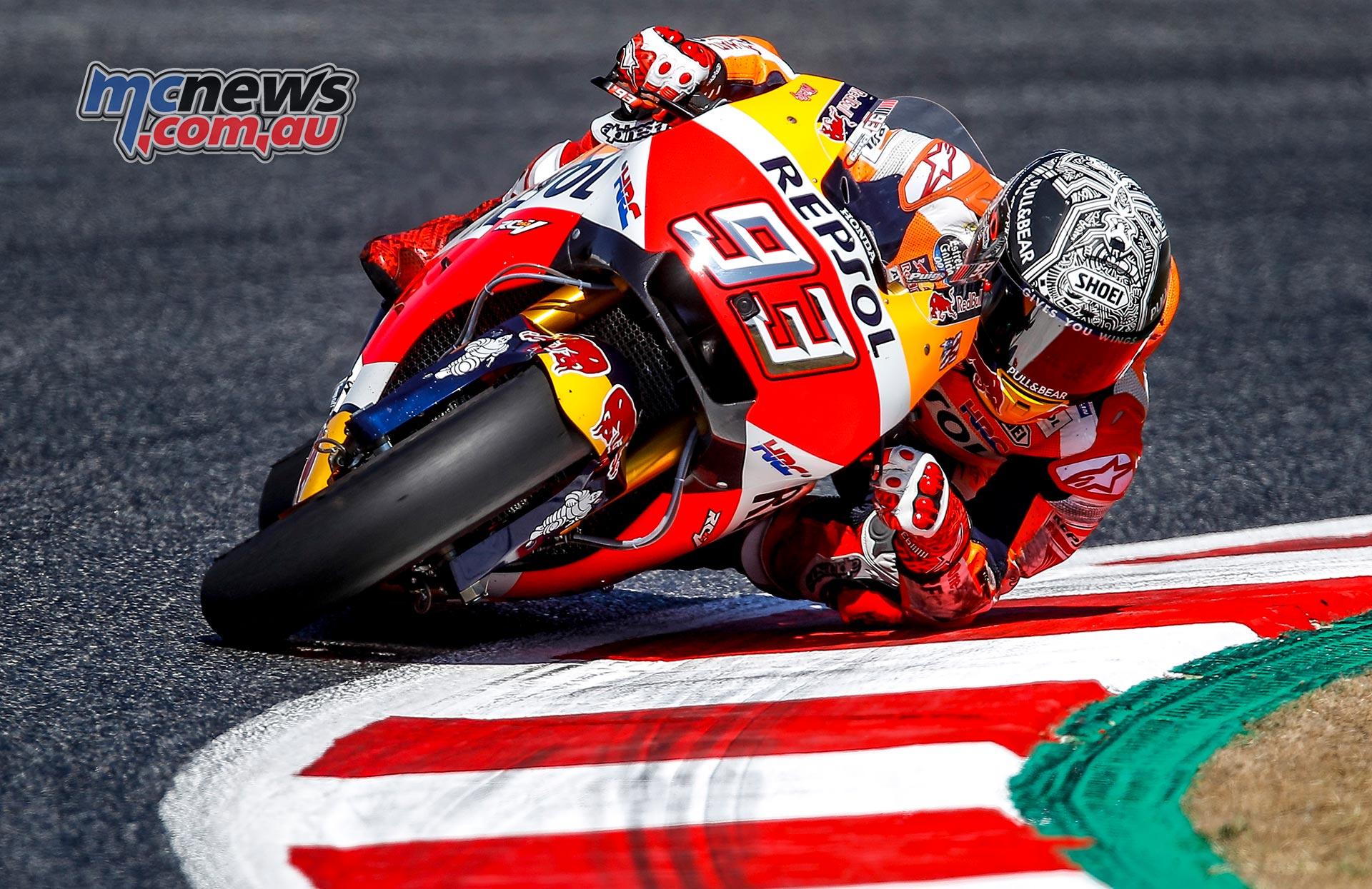 Marc Marquez tops Catalunya MotoGP Test   MCNews.com.au