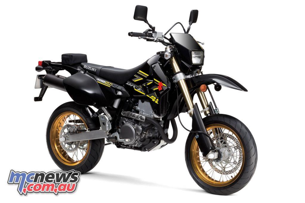 The 2018 Suzuki DR-Z400SM in Solid Black