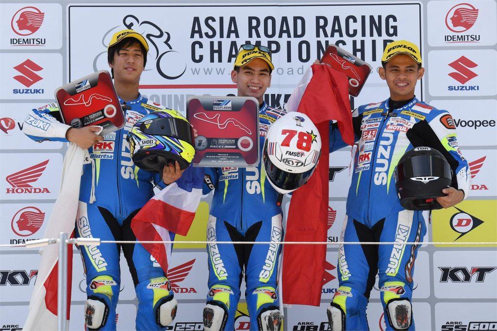Suzuki Asian Challenge Podium