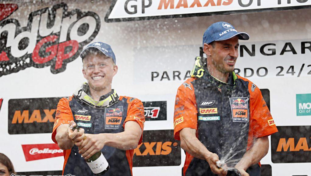 Christophe Nambotin and Nathan Watson celebrating