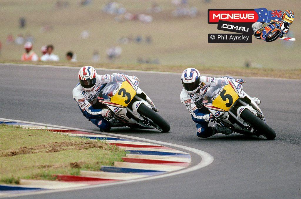 Wayne Gardner and Mick Doohan on the Honda NSR500s.