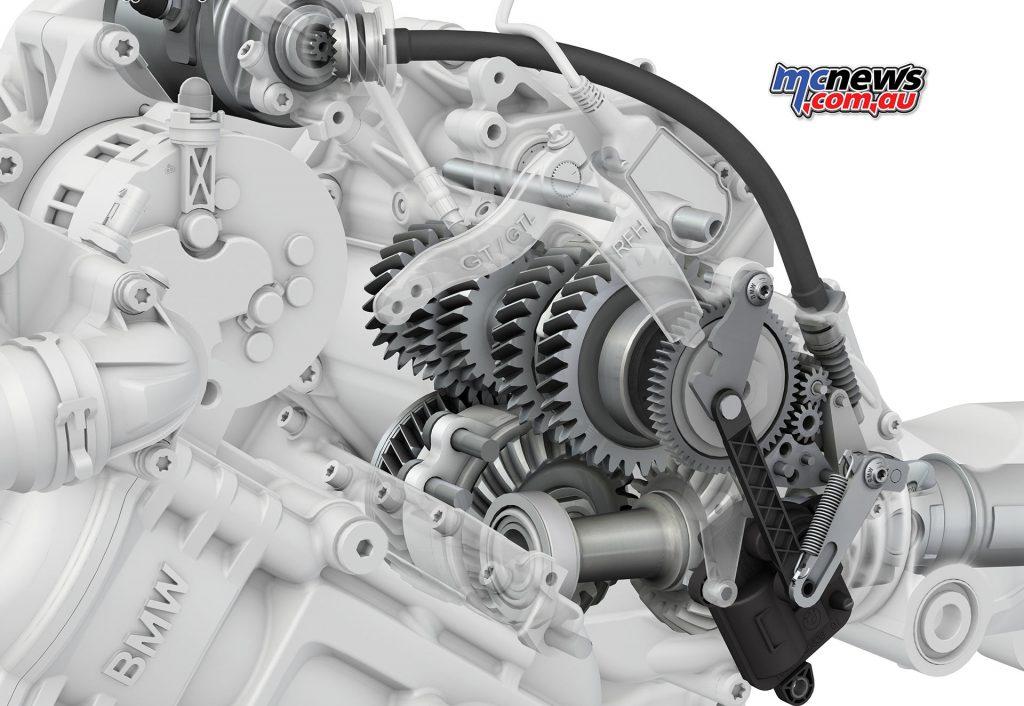 Reverse gear on the K 1600 GT is driven off the starter motor