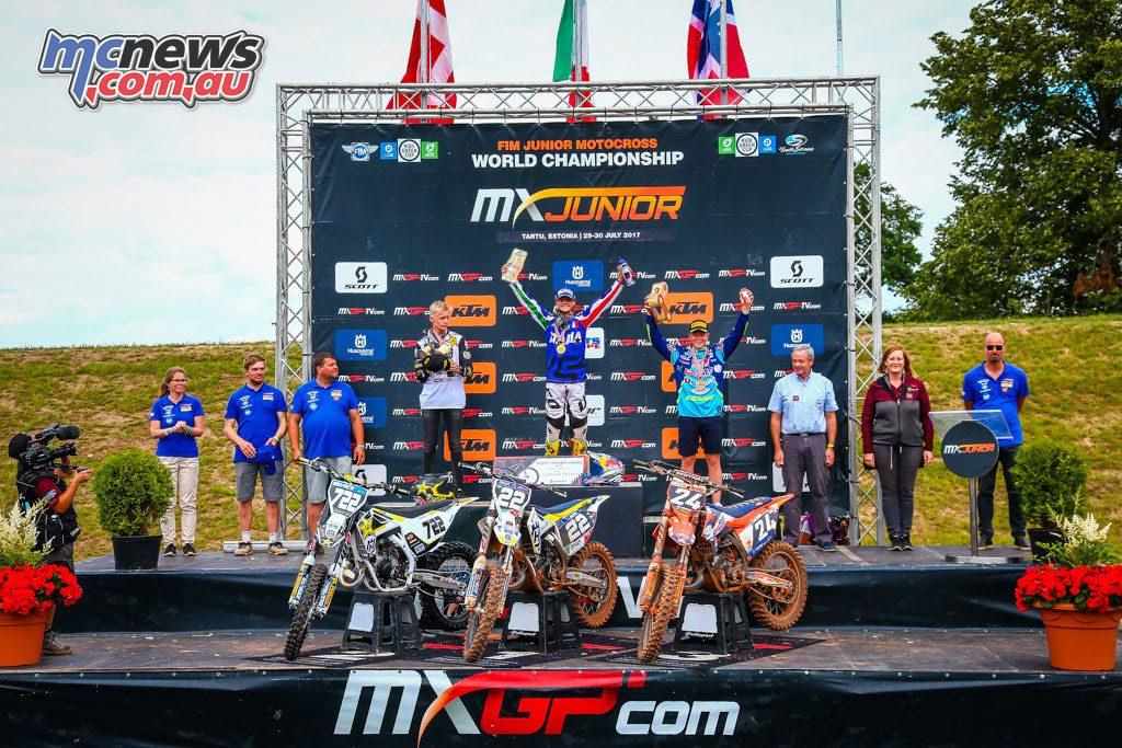 125cc Junior MX Podium - Estonia