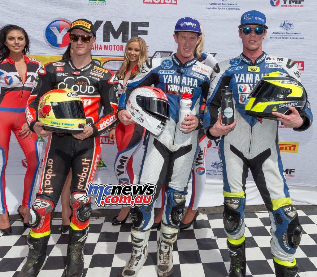 Yamaha Motor Insurance Superbike - Morgan Park Race One Results Wayne Maxwell Corey Turner +0.931 Cru Halliday +3.379