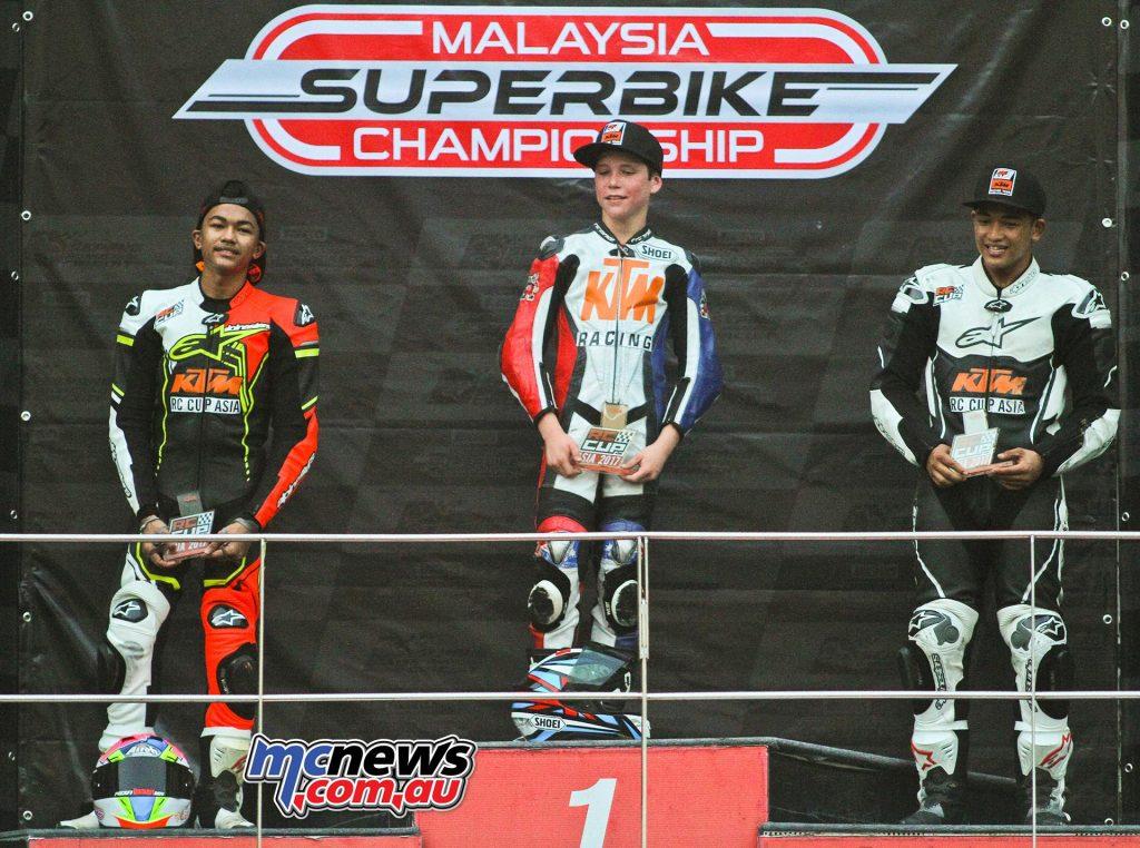 Billy Van Eerde won ahead of Malaysians M.Izam Ikmal Izamli and Ahmad Daniel Haiqal.