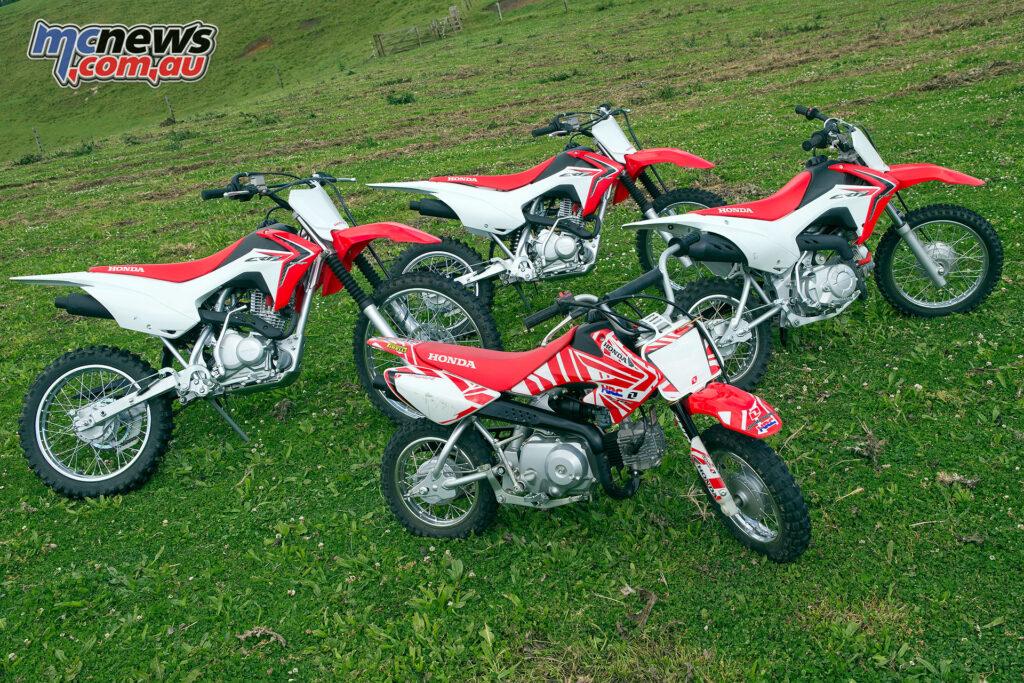 Honda's CRF Kids/Juniors range - The CRF50F, CRF110F, CRF125F and CRF125FB