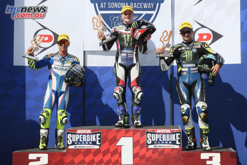 Superbike Race 1 Podium