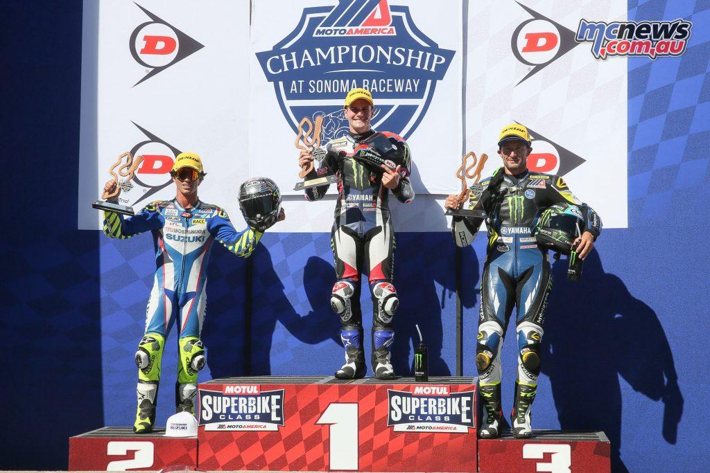 Superbike Race 2 Podium