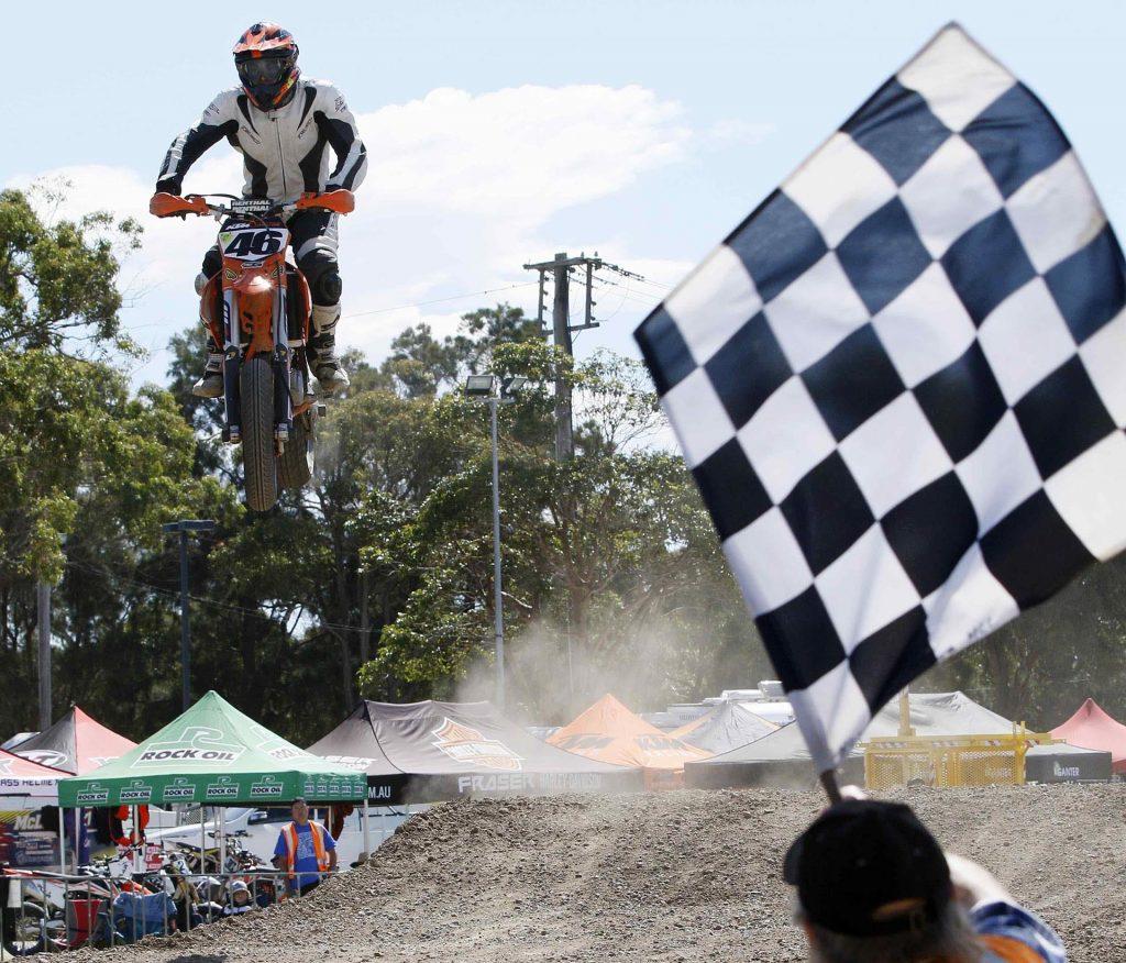 Adam Miller #46 wins FIM Oceania Supermoto Champion – credit Darren Pateman