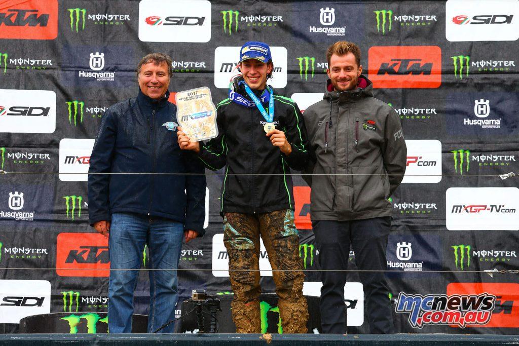 James Dunn takes the EMX250 Championship