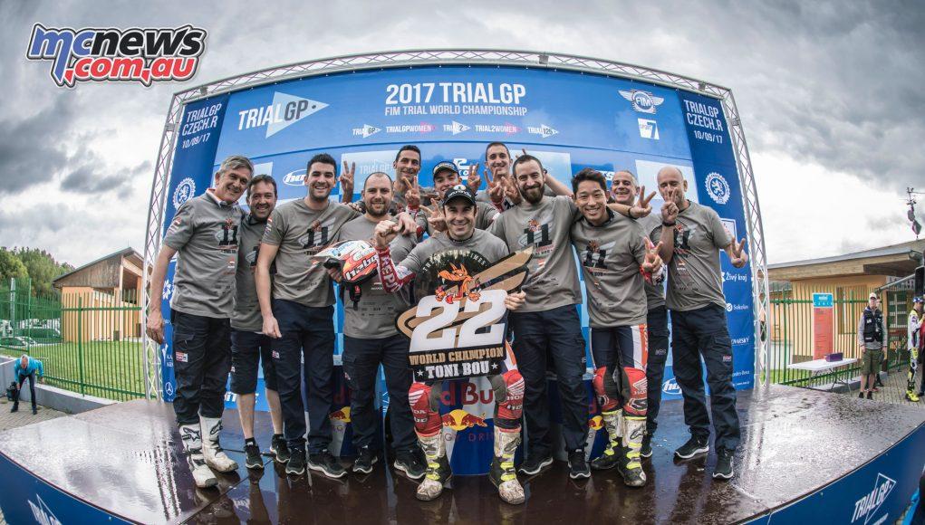 Toni and team celebrate