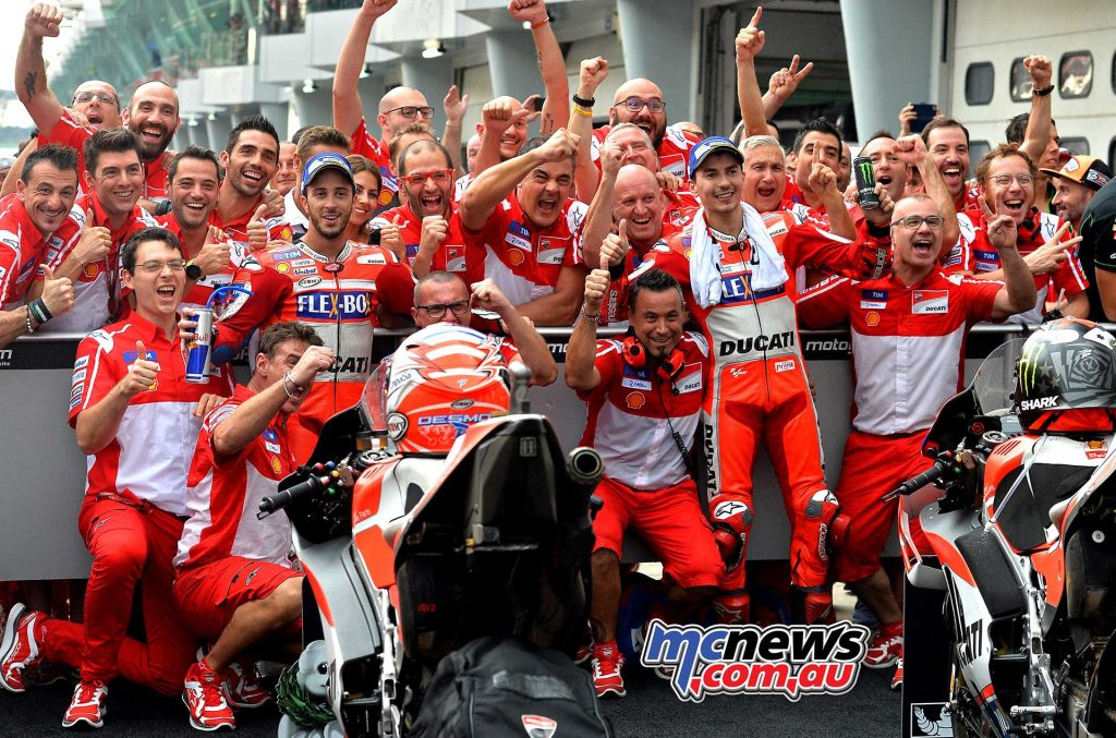 Sepang MotoGP 2017 - Team Ducati celebrate a strong 1-2