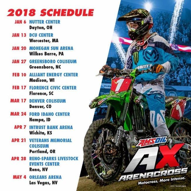 2018 Amsoil Arenacross Schedule