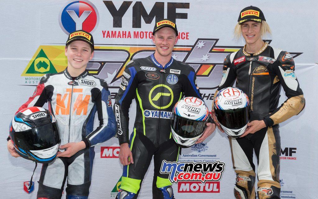 Supersport 300 Race One Results - Over 300 Tom Bramich - Yamaha Billy Van Eerde +0.253 - KTM Max Croker +0.288 - KTM
