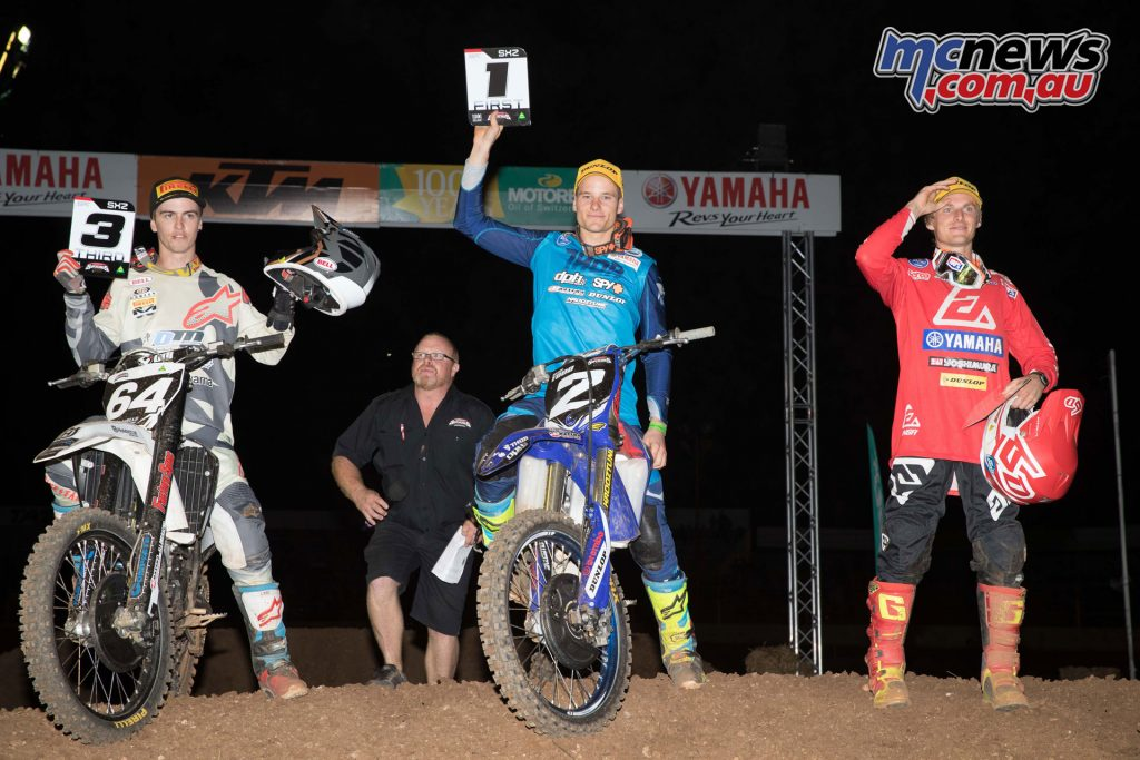 Australian Supercross 2017 - Round 3 Virginia - SX2 Podium