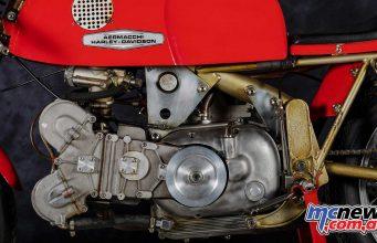 Aermacchi DOHC pushrod-based single 350 racer