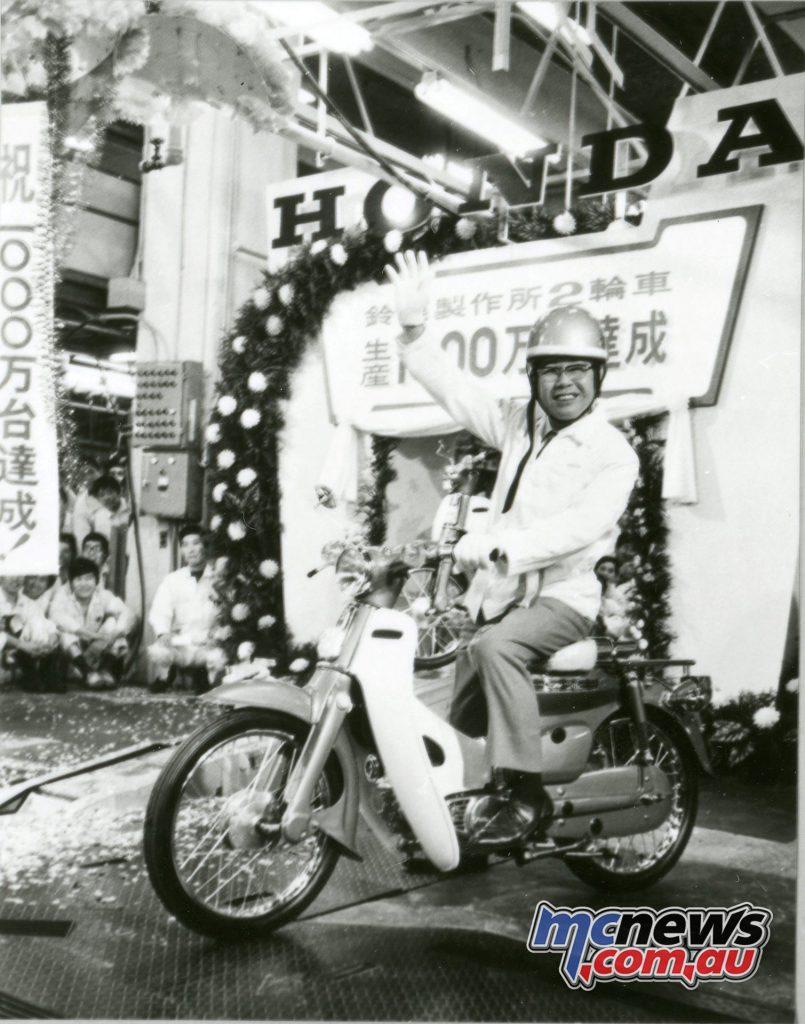 Sochiro Honda in 1971 on the Super Cub