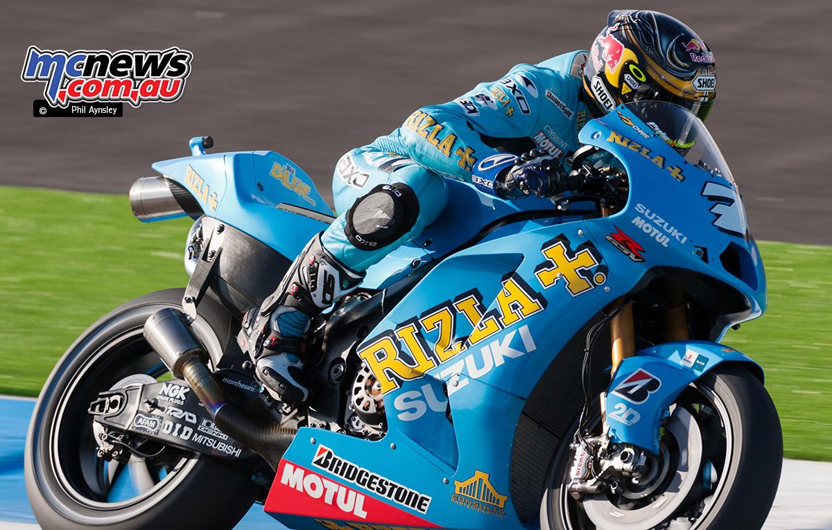 Chris Vermeulen On The Suzuki GSV R.