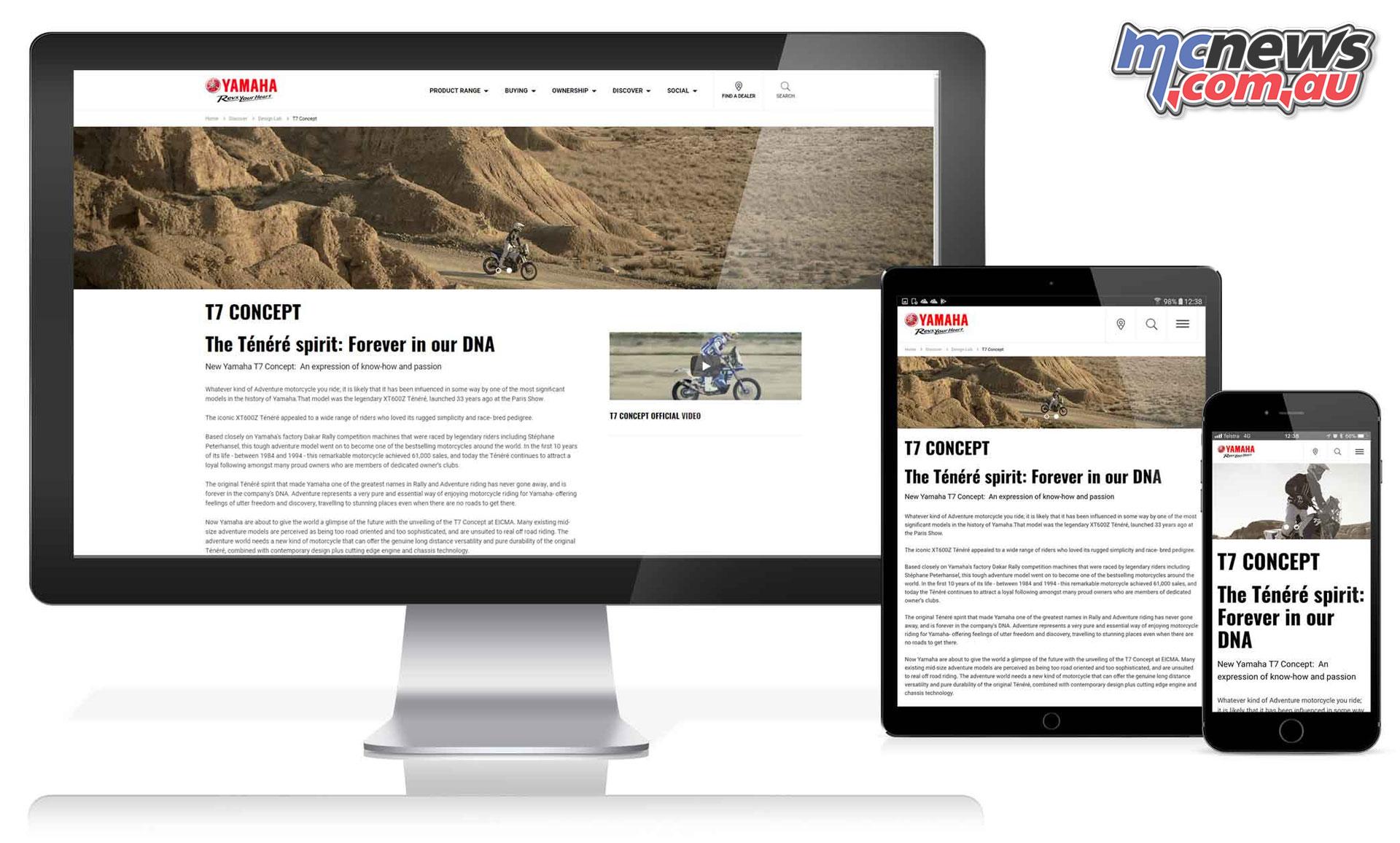 Yamaha motor australia launches new website for Yamaha motorcycle website