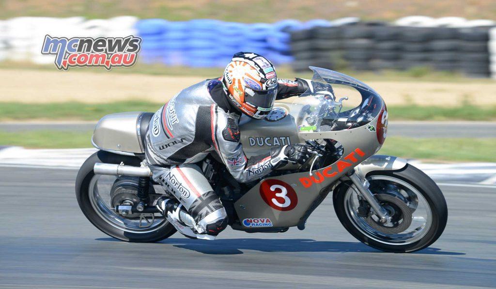 Davo Johnson on the Birch Imola Ducati