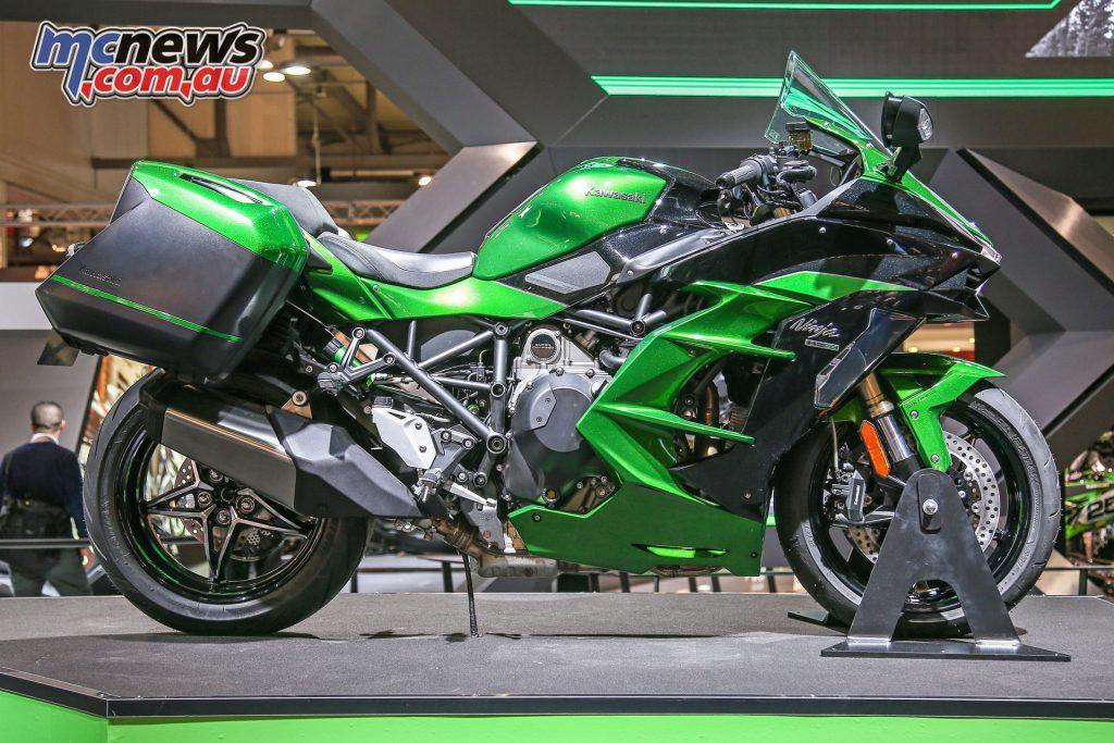 Kawasaki's 2018 Ninja H2 SX SE at EICMA