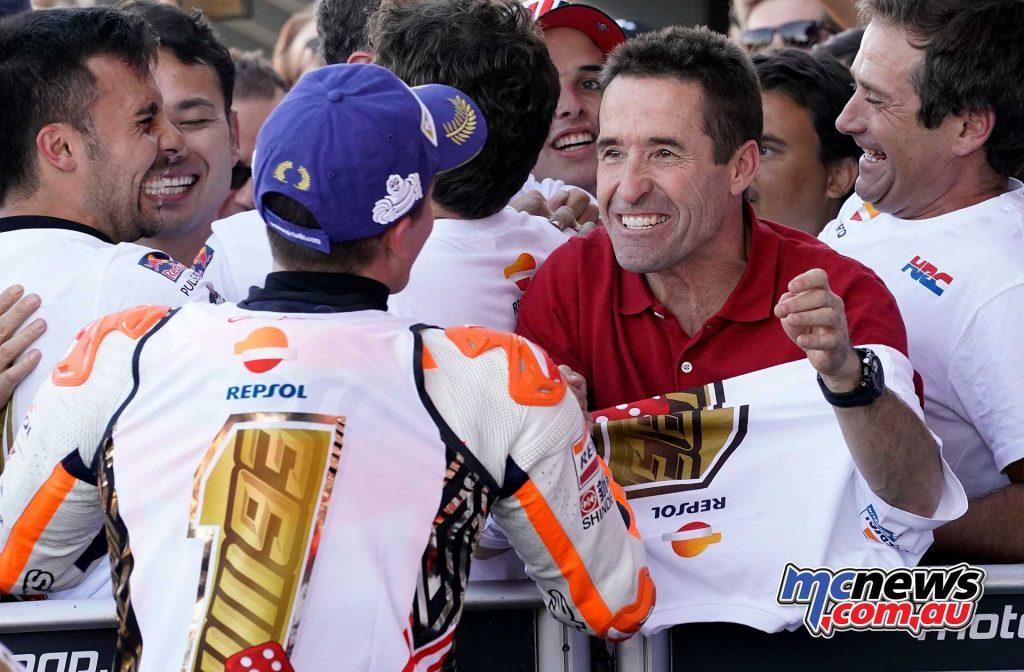 Marc Marquez and his father - 2017 MotoGP World Champion - Celebrations