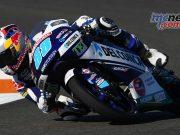 Jorge Martin (Del Conca Gresini Moto3) took a stunning maiden win at the Valencia GP