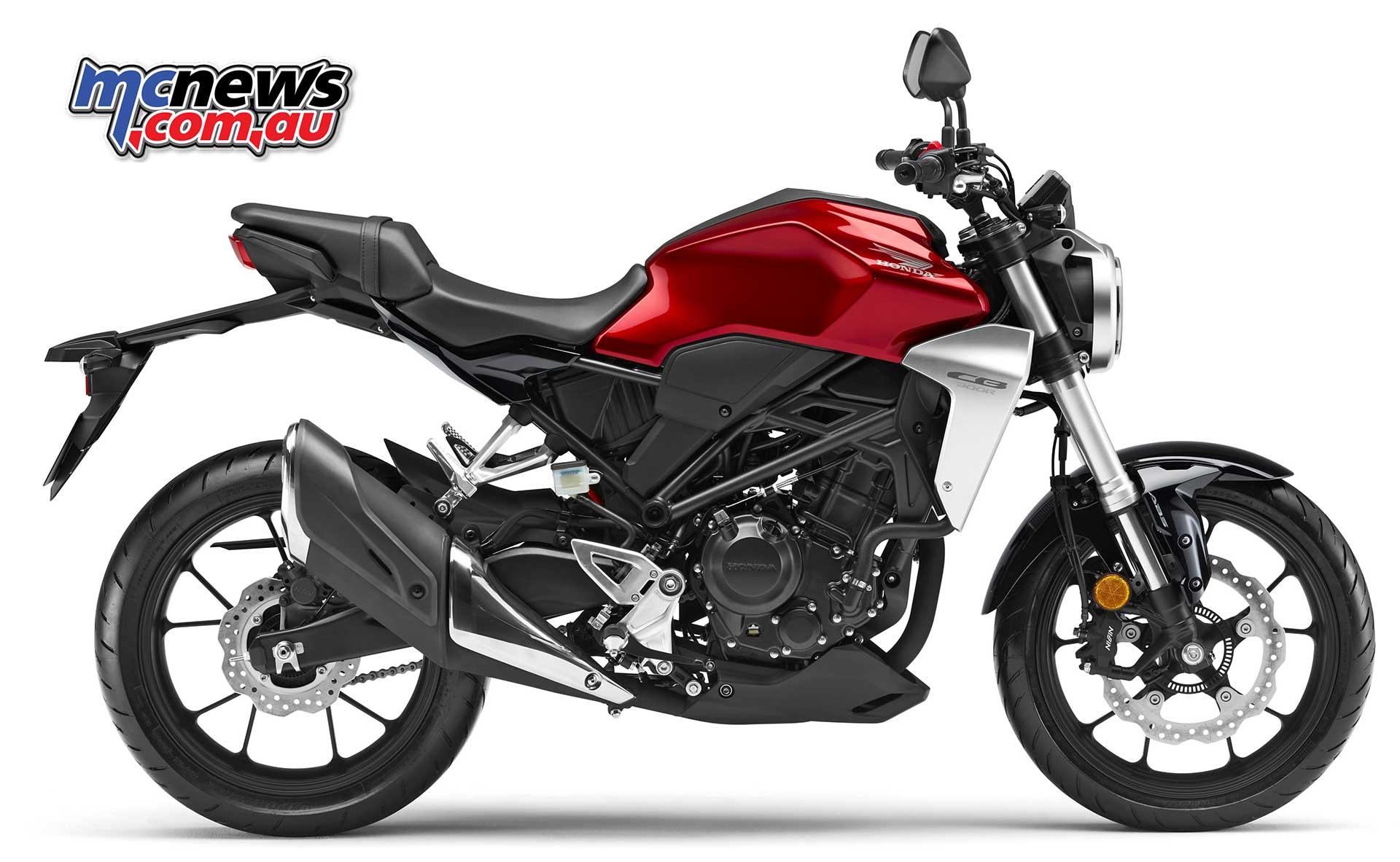 Honda New Vehicle 2018 Honda Cb300r 143kg Wet Usd Forks