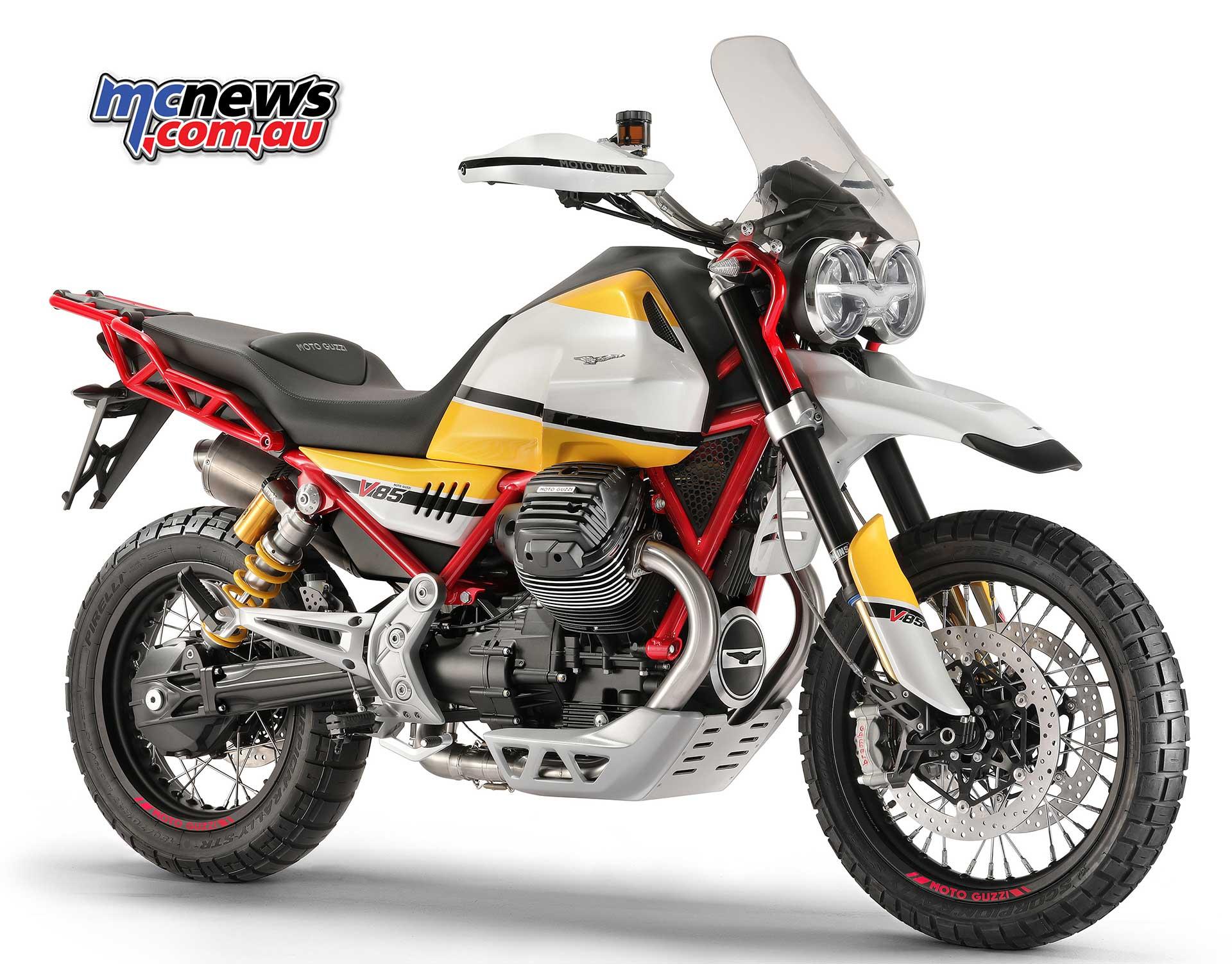 moto guzzi v85 80hp new 850cc engine new frame. Black Bedroom Furniture Sets. Home Design Ideas
