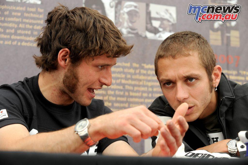 Guy Martin and Valentino Rossi - Image by Stephen Davison