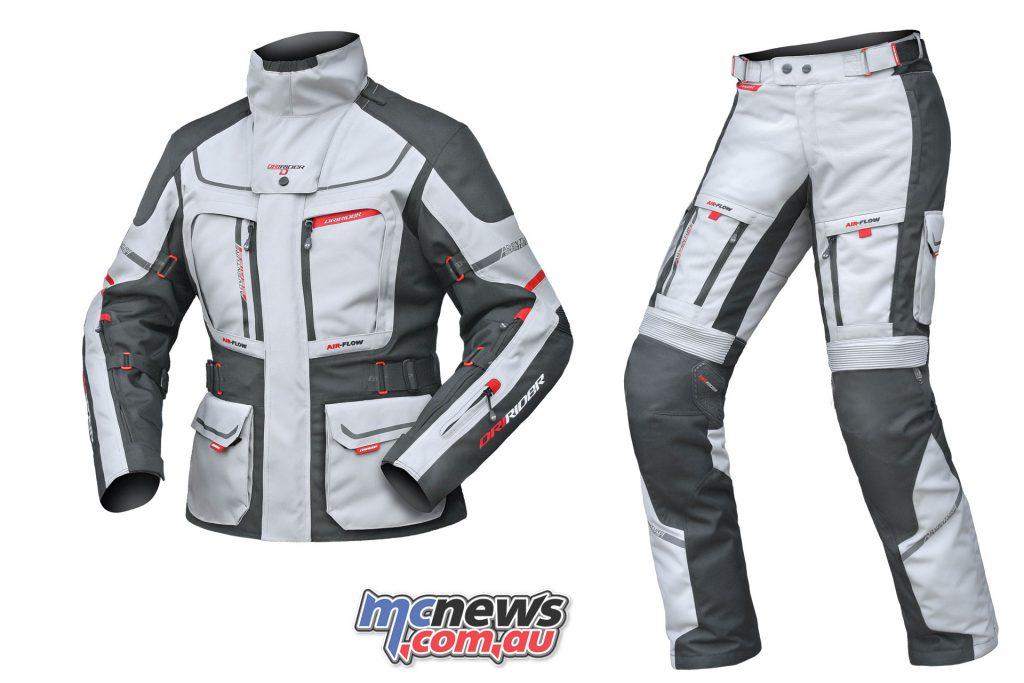 Ladies DriRider Vortex Adventure 2 Jacket & Pants - Grey/Black