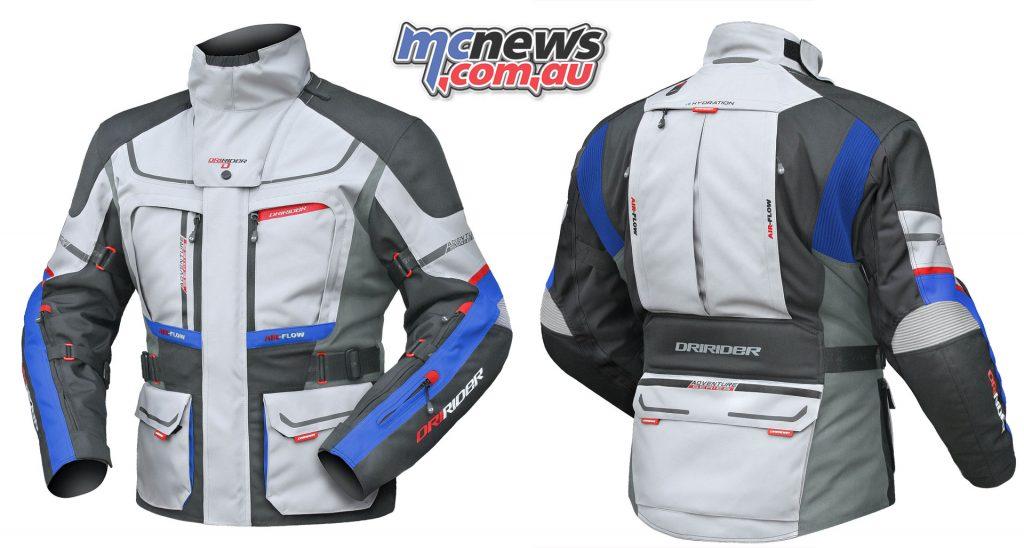 DriRider Vortex Adventure 2 Jacket in Grey/Anthrucite/Blue