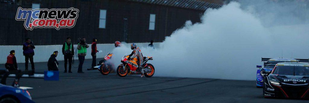 Marc Marquez and Dani Pedrosa light it up at Motegi
