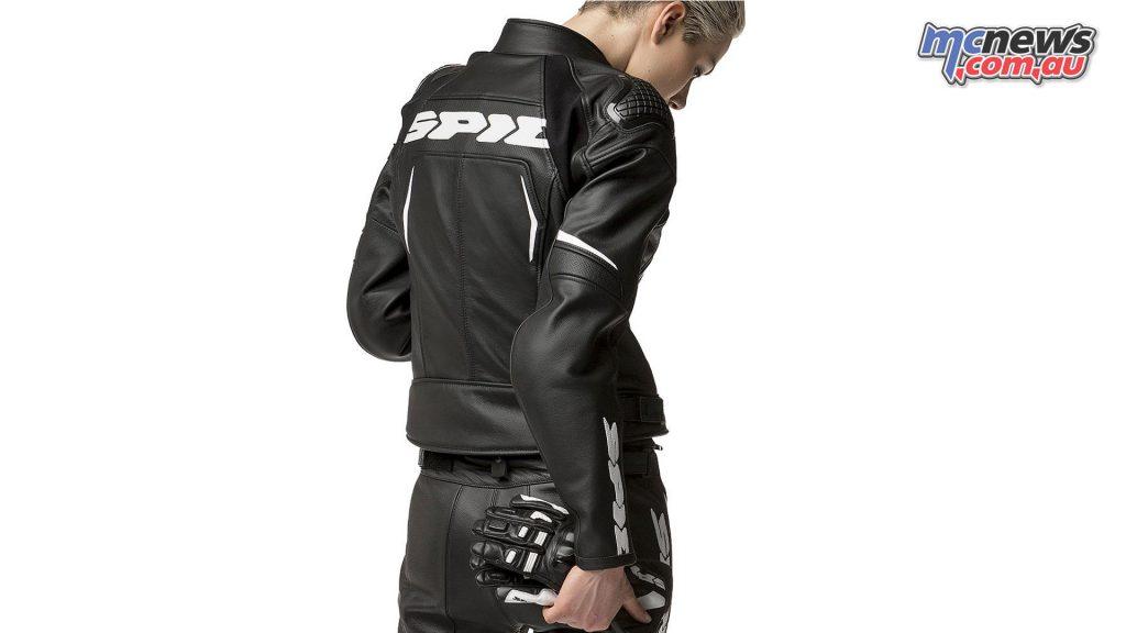 Spidi EvoRider Leather Ladies Jacket - Black/White