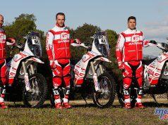 The 2018 Dakar Gas Gas Rally Team - Jonathan Barragán, Johnny Aubert and Cristian España