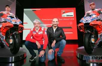 Claudio Domenicali, Luigi Dall'Igna, Ducati Corse General Manager with Jorge Lorenzo and Andrea Dovizioso