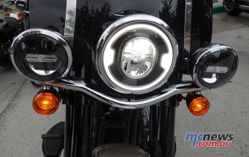 The Softail Heritage Classic headlight