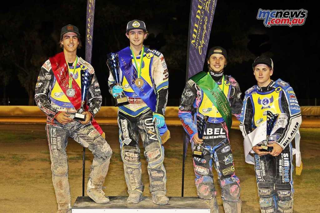U21 Australian Speedway Championship Podium - Image by Judy McKay