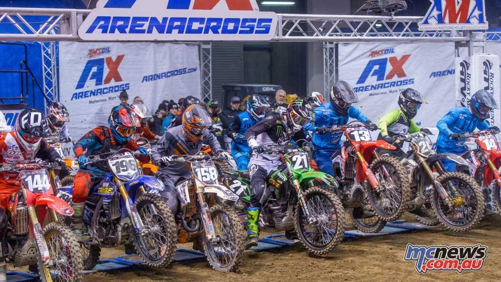 AMA Arenacross Start in Pennsylvania - Image courtesy www.arenacross.com