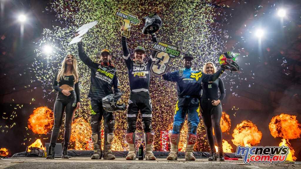 UK Arenacross Round 2 Podium