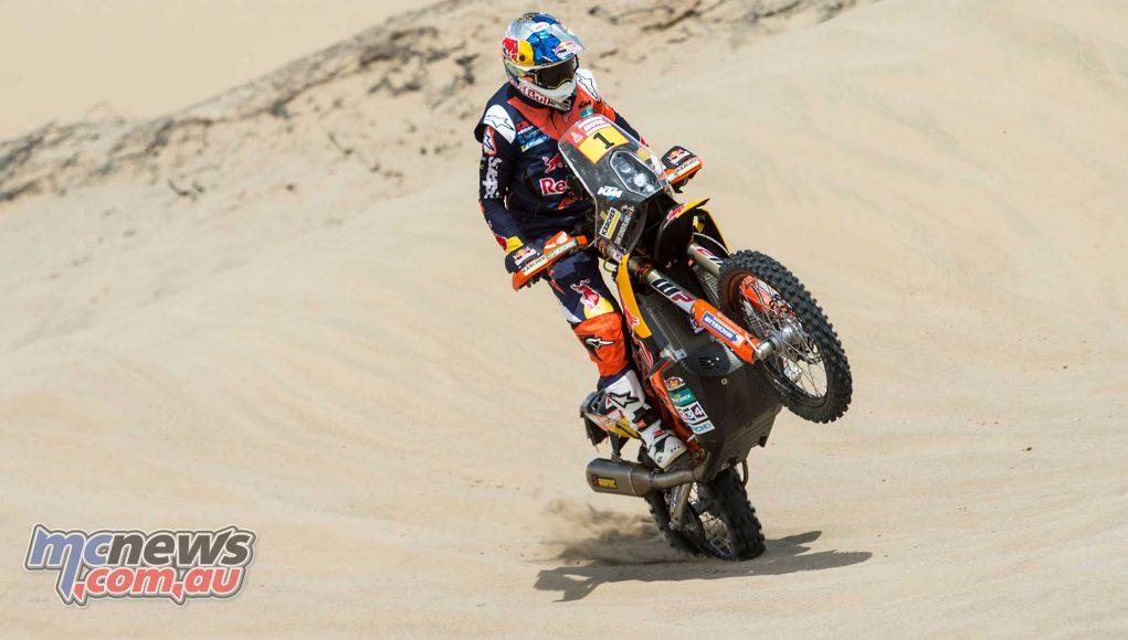 Sam Sunderland led the way as Dakar 2018 got underway