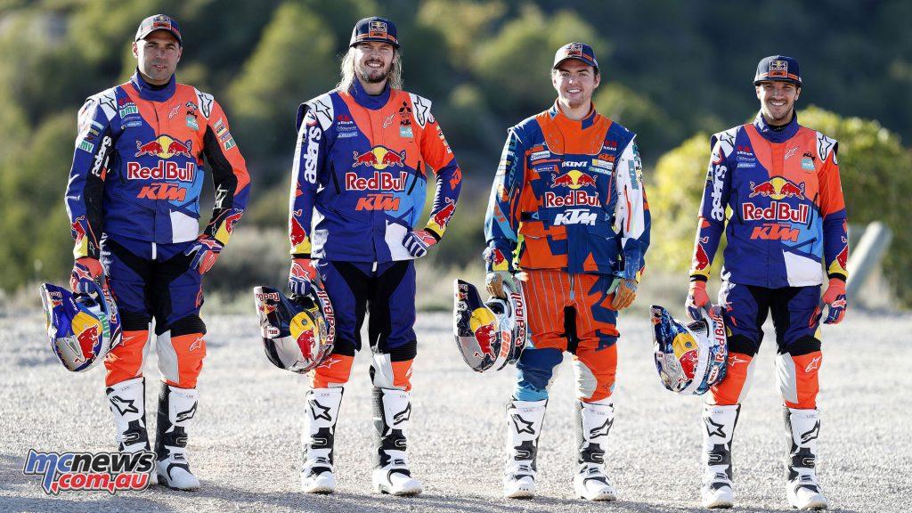 The KTM Rally Team of Toby Price, Sam Sunderland, Matthias Walkner and Antoine